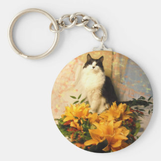 Save the Date Fall Wedding Flowers Key Chain