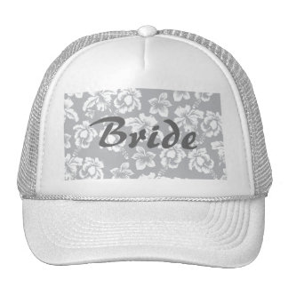 Save the Date Fall Wedding Flowers Mesh Hats