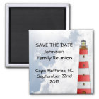 Save the Date Family Reunion Beach Sky Lighthouse Magnet