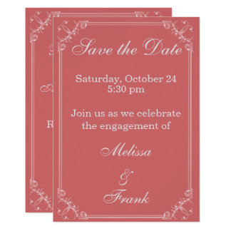 Save the Date Fancy Frame Card