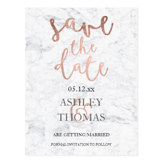 Custom Gold Save The Date Postcards | Zazzle.co.uk