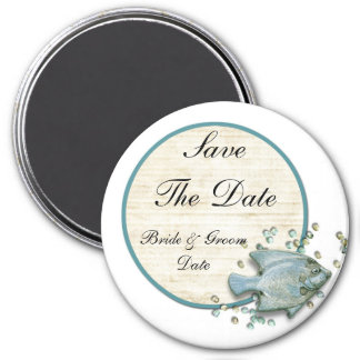 Save the Date Fish Beach Wedding Magnets Refrigerator Magnets