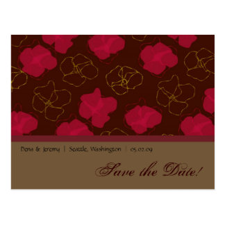 Save The Date Floral Design Postcard