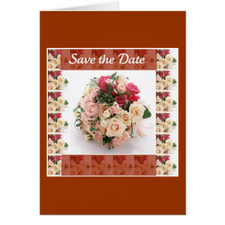 Save the date- Floral Greeting Card