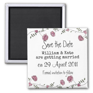 Save the date floral magnet