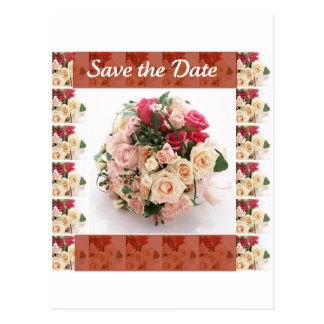 Save the date- Floral Postcard