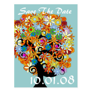 Save The Date - Flower Tree Post Cards