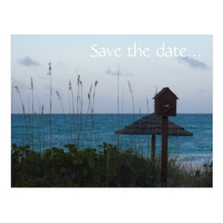 Save the date for a beautiful evening postcard