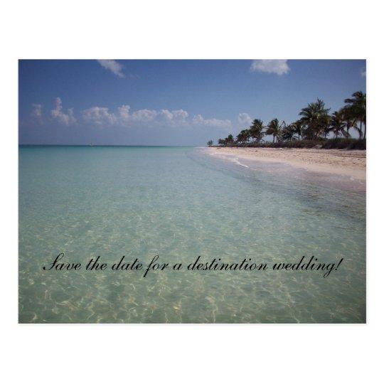 Save the date for a destination weddi postcard