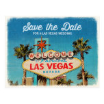 Save the Date for a Fabulous Las Vegas Wedding Postcard