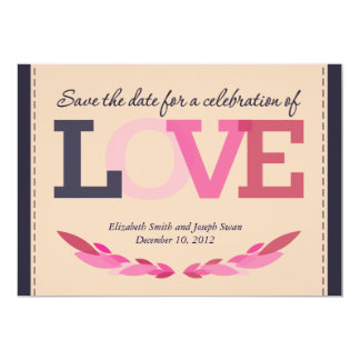 Save the Date for a Wedding Celebration 13 Cm X 18 Cm Invitation Card