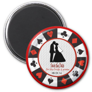 Save the Date for bride groom Las Vegas Magnet Magnets
