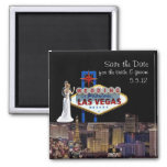 Save the Date, for Bride & Groom Wedding In Las Ve Refrigerator Magnet