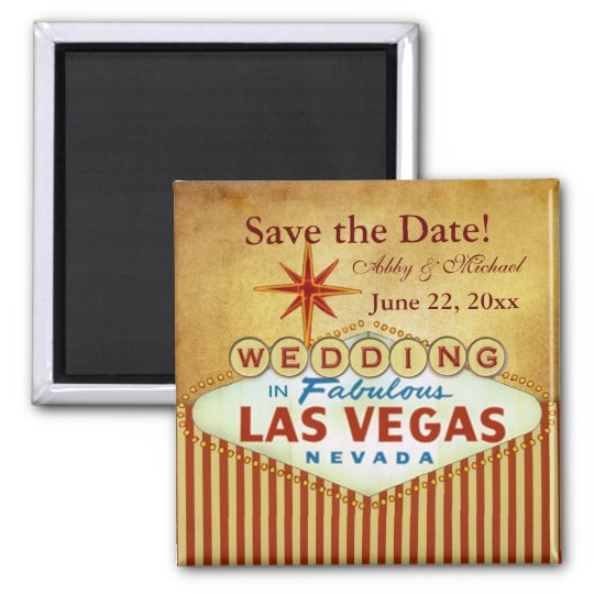 Save the Date for Fabulous Las Vegas Magnet