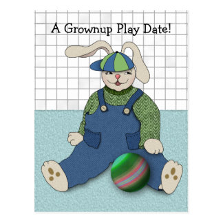 Save the Date for Grownup Play Party Postcard