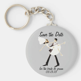 Save the Date for the bride & groom Keychain