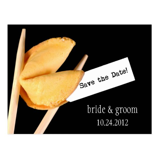 Save the Date Fortune Cookie Postcard