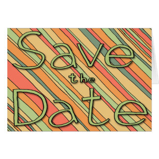 Save the Date Funky Stripes 5x7 Cards