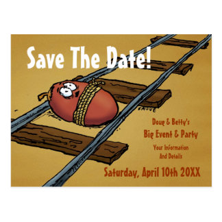 Save the Date Funny Announcement Postcard