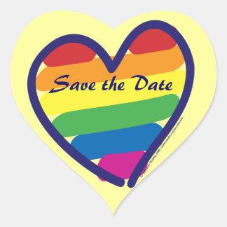 Save the Date/Gay Lesbian Wedding Heart Sticker
