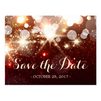 Save the Date - Glamour Gold Glitter Sparkles Postcard