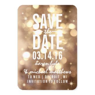 Save the Date | Golden Lit Nite 9 Cm X 13 Cm Invitation Card