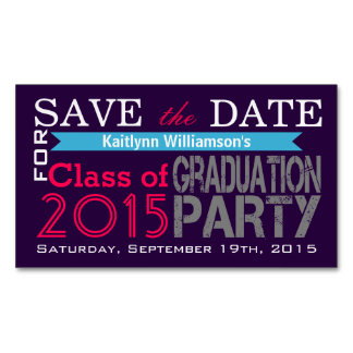 Save the Date Graduation Magnetic Card Reminders Magnetic Business Cards