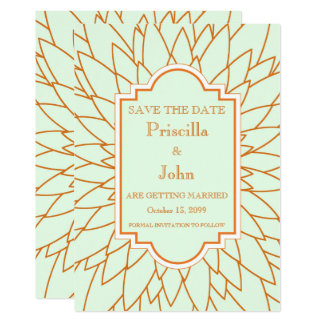 Save the date, great gatsby, dahlia geometric card