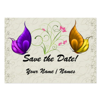 """Save the Date """"Hand Out"""" Invitations by SRF Large Business Cards (Pack Of 100)"""