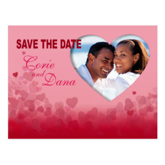 Save the Date Heart Festival Photo Postcard