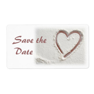 Save the Date/Heart of Sand Shipping Label