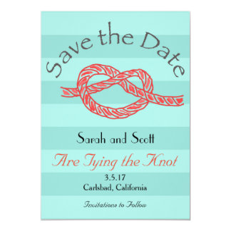 Save the Date Heart Shaped Tying the Knot Card