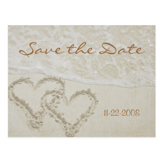 Save the Date heart waves Postcard