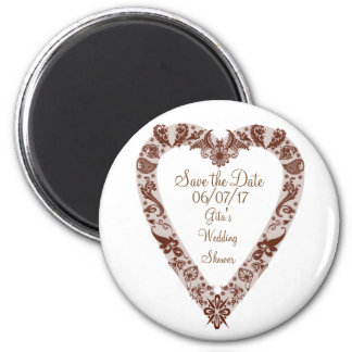 Save the Date Henna Heart Magnet