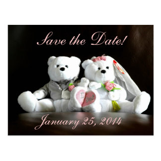 Save The Date I Do Bears Postcard