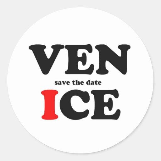 SAVE THE DATE IN VENICE STICKER