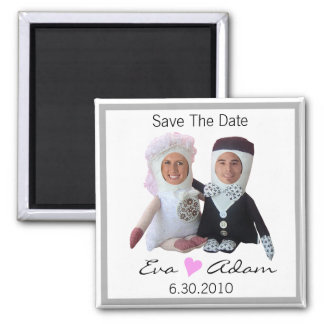Save The Date Insert Photo Dolls White Magnet
