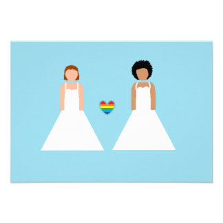 Save the date -- interracial lesbian couple personalized invite