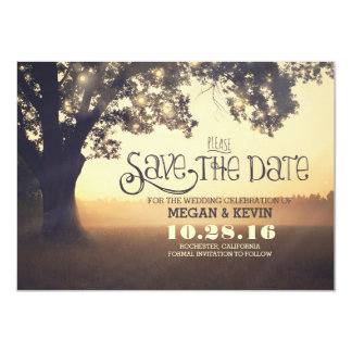 Save the Date Invitation with Tree & Lights
