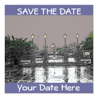 SAVE THE DATE-Jackson Square New Orleans Custom Invite