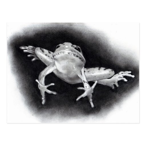 SAVE THE DATE: JUMPING FOR JOY: FROG IN PENCIL POST CARD