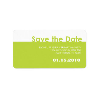 SAVE THE DATE LABEL