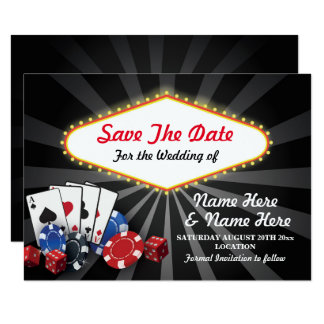 Save The Date Las Vegas Casino Cards Dice