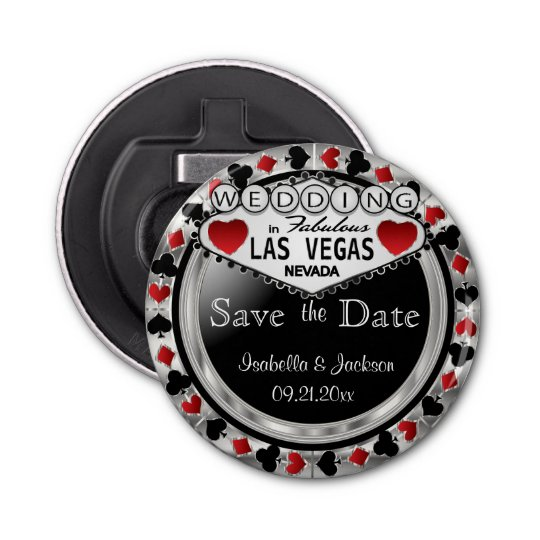 Save the Date Las Vegas Style - Silver
