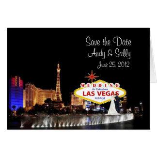 Save the Date Las Vegas Wedding Card