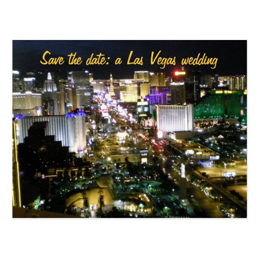 Save the Date Las Vegas Wedding Plans Post Card
