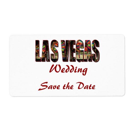 Save the Date/Las Vegas Wedding Shipping Label