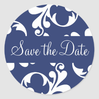 Save the Date Leaf Flourish Envelope Sticker Seal