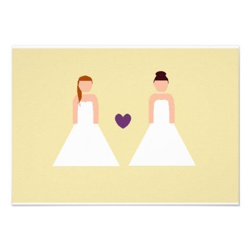 Save the date -- lesbian wedding custom announcements