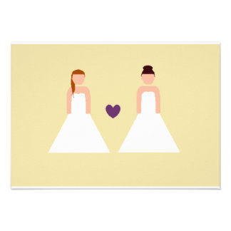 Save the date -- lesbian wedding custom announcements